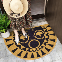 Nordic style Entry door mat PVC soft wire loop semicircular carpet Outdoor non-slip floor bathroom DIY waterproof rug