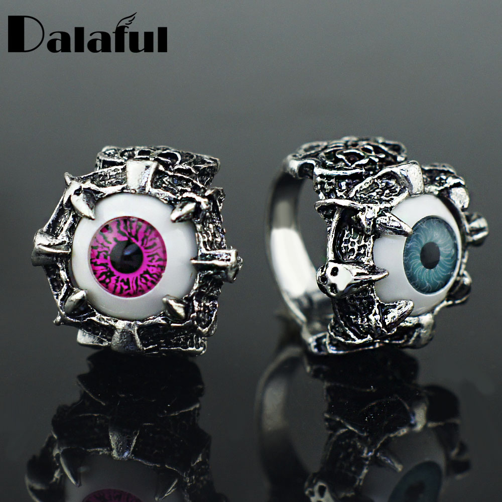 Punk Eyes Claw Biker Gothic Ring Taille 8 8 10 10 11 J026 de femmes - Bijoux fantaisie - Photo 2