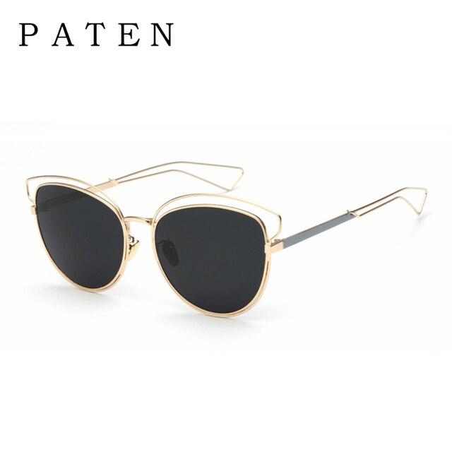 New patena de lujo gafas de sol de las mujeres 2017 diseñador de la marca  cat c15943daaf8e