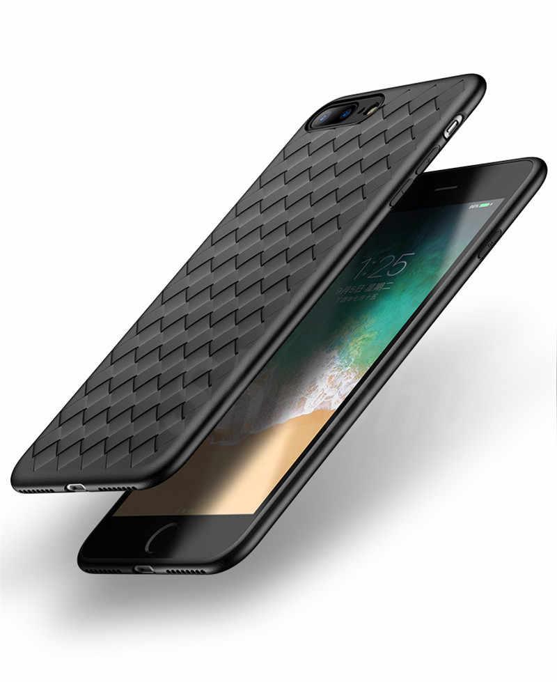 خزائن هاتف آيفون 6 حالة نسج الهاتف كوكه ل iphone X XR XS ماكس حالة تنفس لينة غطاء من البولي يوريثان الحراري ل iphone 6 7 8 زائد جراب هاتف