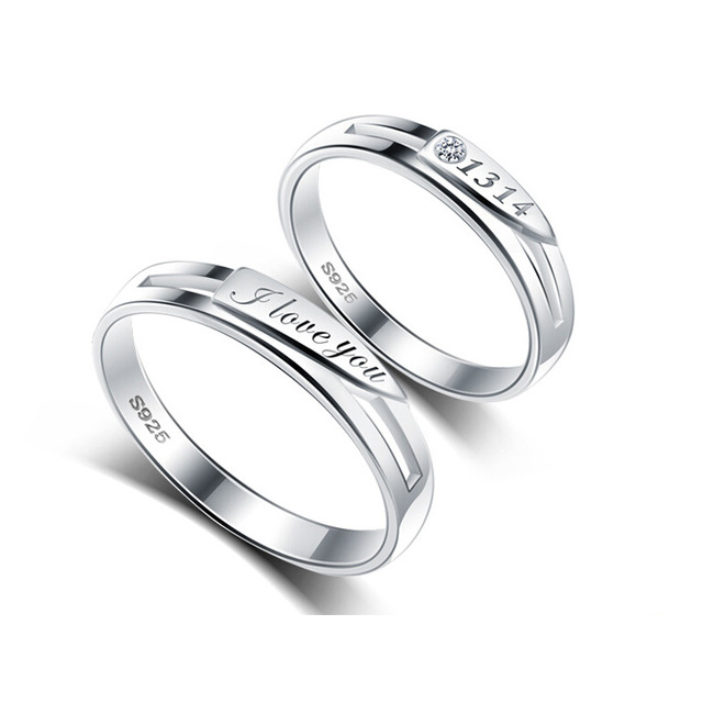 Silver Rings For Lovers 100% Guaranteed Real 925 Sterling Silver Jewelry  Ring  YH4626
