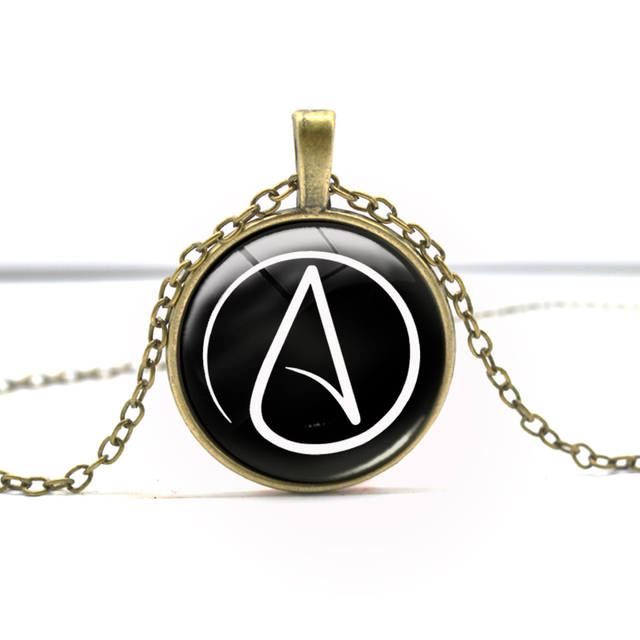 Atheist Symbol Bronze Silver Fashion Jewelry Pendant Necklace Gifts
