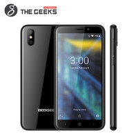 DOOGEE X50 5.0 18:9 Mobile Phone Android 8.1 MTK6580M Quad Core 1GB RAM 8GB ROM 5MP Dual Rear Cameras 3G WCDMA Smartphone