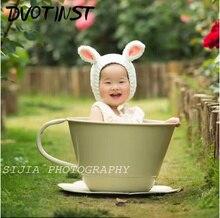 Baby Photography Props Iron Basket Tea Cup Fotografia Accessories Infantil Toddler Studio Shooting Photo Props Shower Gift