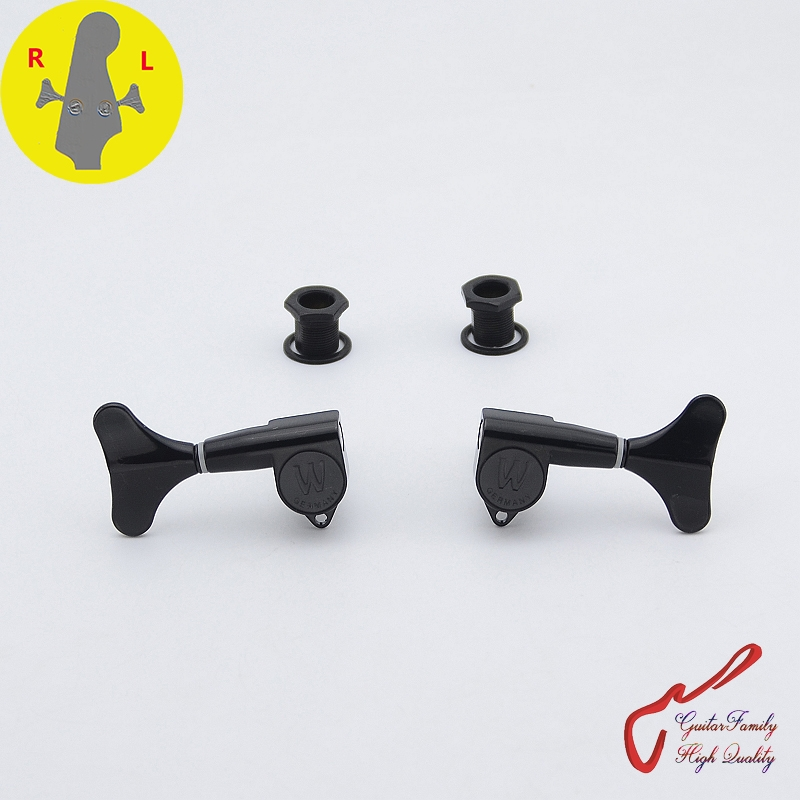 1 Piece Super Quantity GuitarFamily Electric Bass Machine Heads Tuners Black MADE IN Germany ( Freedom to match )