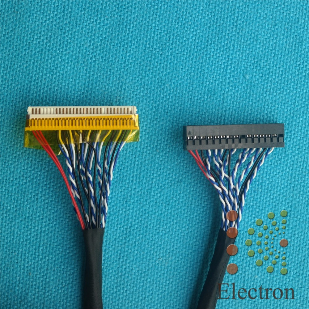 FIX-30-S6 30Pin Double 2ch 6 bits LVDS Cable for LCD Controller Panel 5pcs/lot