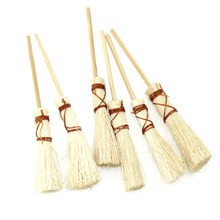 1/12 Doll House Decoration Accessories Mini Bamboo Broom Model Dollhouse Miniature Cleaning Tools Kit Pretend Play Toy(China)