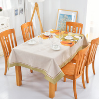 Simple Pastoral Tablecloth Fabric Home Rectangular American Cotton Linen Tablecloth Table Cloth Rectangular Tablecloth