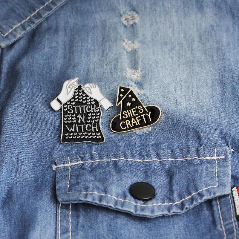 Металлические булавки, броши для женщин, одежда, волшебная брошь «шляпа», винтажный значок, эмаль, булавка, кнопка, лацкан, джинсовая рубашка, сумка, рюкзак, ювелирные изделия