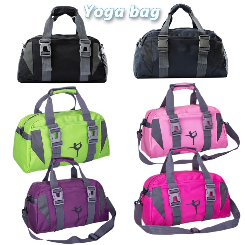 все цены на Yoga Fitness Bag Waterproof Nylon Training Shoulder Crossbody Sport Bag For Women Fitness Travel Duffel Clothes Gym Bags онлайн