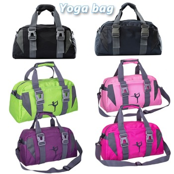 Yoga Fitness bolsa impermeable de Nylon de formación hombro Crossbody bolsa  de deporte para las mujeres Fitness viajes bolsa de ropa bolsas de gimnasio ea5701010cfc7