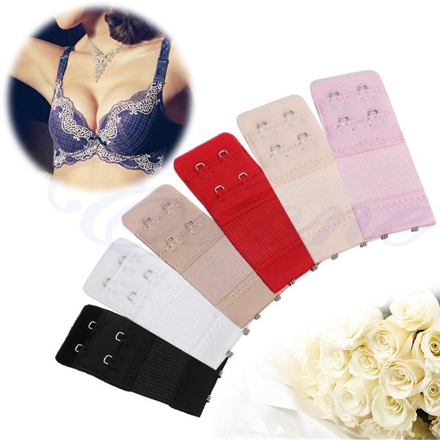 Ladies Bra Extender 2 Hook Bra Extension Strap Underwear Strapless Women Underwear Expander 6 Colours Underwear Extension Buckle