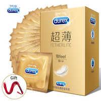 Durex préservatifs pour hommes manchon de pénis Ultra mince lisse lubrifié Contraception préservatif Sex Toys intime Kondom Sex Products Shop
