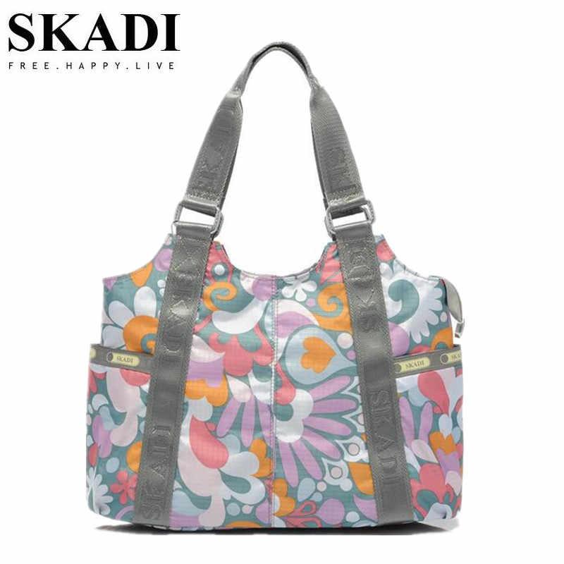 ec6fd3768545 SKADI Women Beach Bags Leopard Hawaii Style Girls Handbags for Ladies  Waterproof Nylon Shoulder Bags for