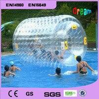 Бесплатная доставка надувной валик для плавания шар прогулка на водяном шаре Аква подвижный шар, роликовое колесо для взрослых или детей