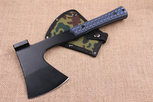 TRSKT Tactical axe Hunting Camping Army 56HRC Steel Outdoor Hunting Camping Axe Fire Axes Tool with Nylon sheath Dropshipping