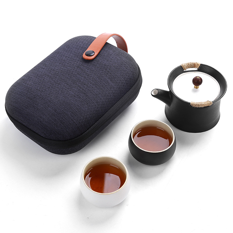 Ensemble de thé Kung Fu de voyage chinois Fangran ensemble de thé en céramique Portable tasse à thé en porcelaine ensemble de thé Gaiwan tasse de thé cérémonie théière