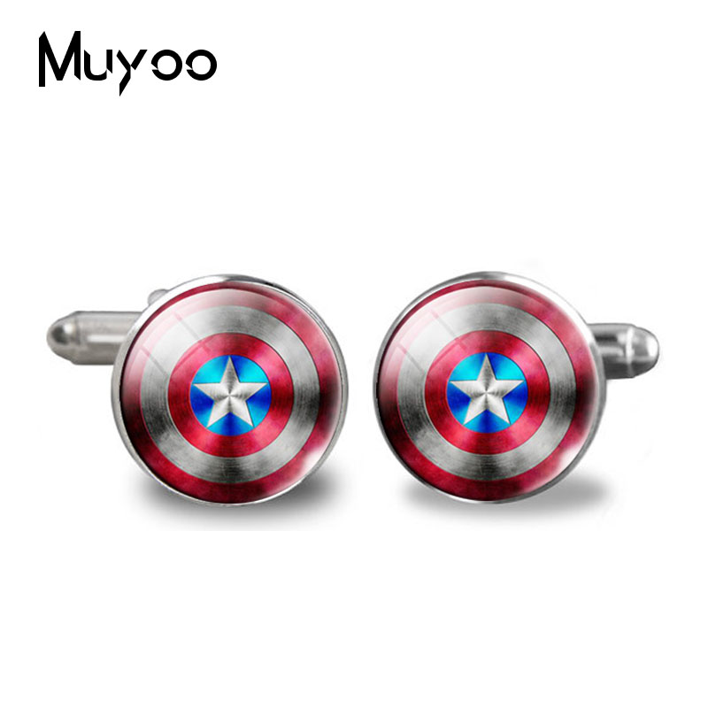 2017 Menswear Shirt Cuff Buttons Captain Art Photo Glass Cabochon Cuff Buttons To High Quality Mens Buttons Cufflinks Hot