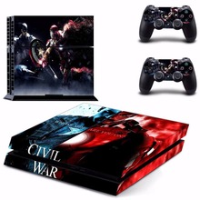 Marvel's Captain America: Civil War Vinyl Sticker Skin For PS4 PlayStation 4 Console+Free Controller Cover Decal