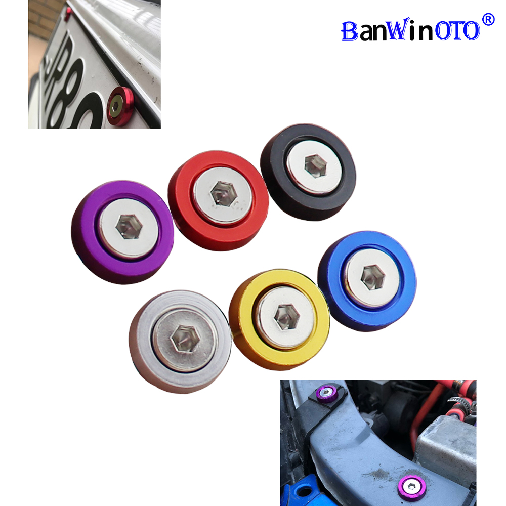 10pcs/set JDM Style Washer Nut License Plate Bolts Fender Flare Stickers M6x20 Universal Auto Car Styling Tuning Modification