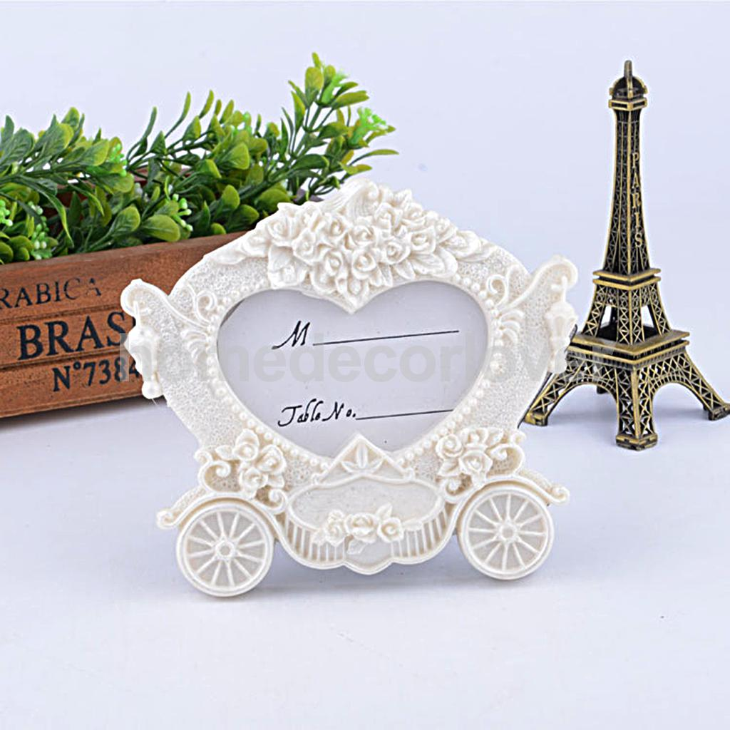 Romantic Carriage Table Number Card Picture Photo Stand Frame ...