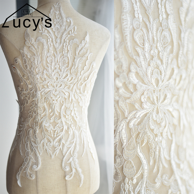 Como hacer apliques para vestidos de novia