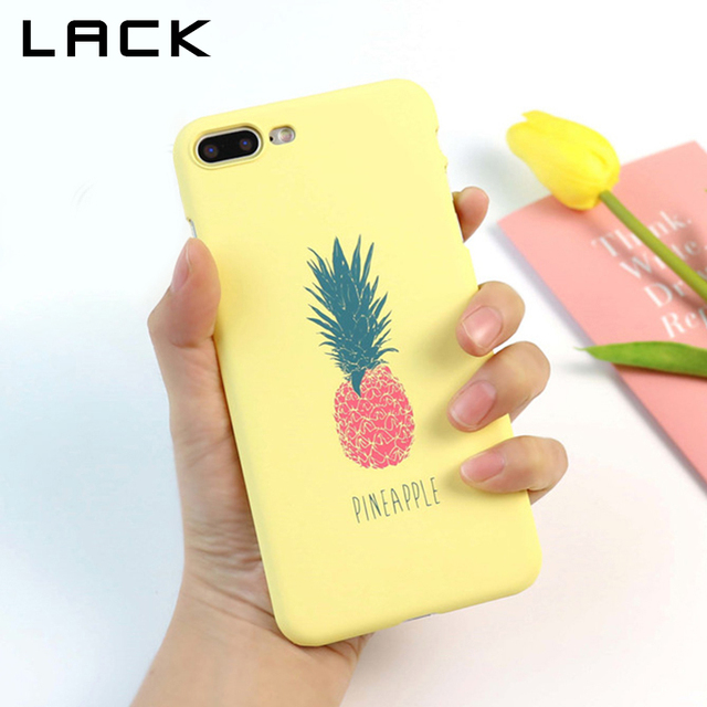LACK Cartoon Pineapple Phone Case For iphone 5S Case Fashion Hard Ultra thin Cases Cute Letter Back Cover For iphone 6 6S 7 Plus