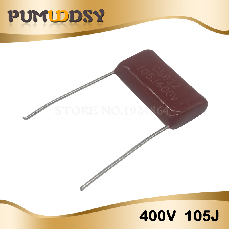 10PCS 400V105 1UF Pitch 20MM 400V 105 1000NF CBB Polypropylene Film Capacitor