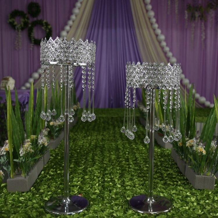 Decoration Wedding Crystal Road Lead Wedding Flower Holder Wedding