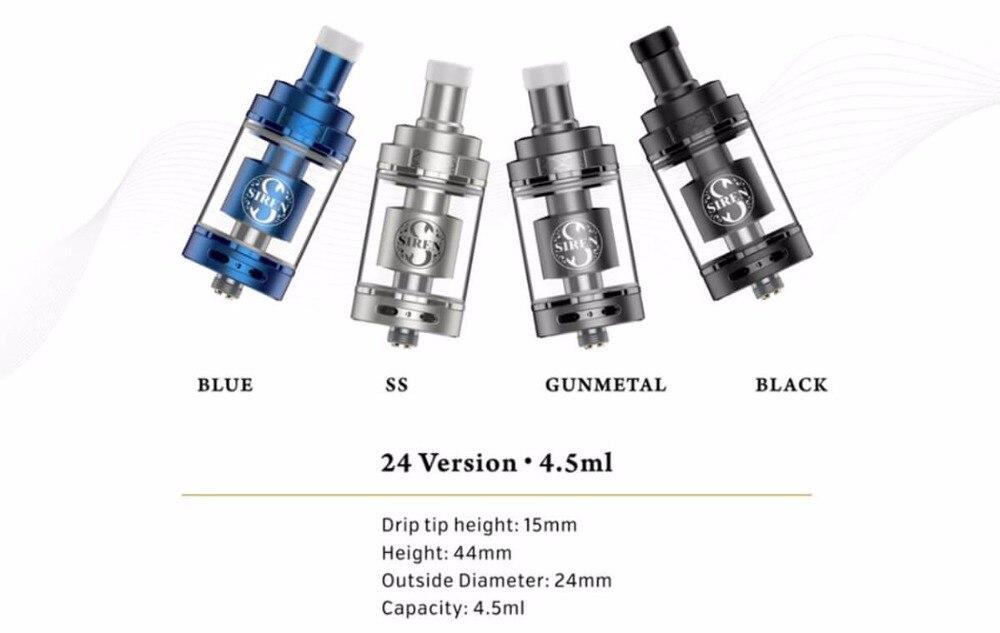 где купить Original Digiflavor Siren V2 GTA MTL Tank 24 Version 4.5ml Genisis Tank Atomize update siren 22 siren 25 DF siren 2 atomizer по лучшей цене