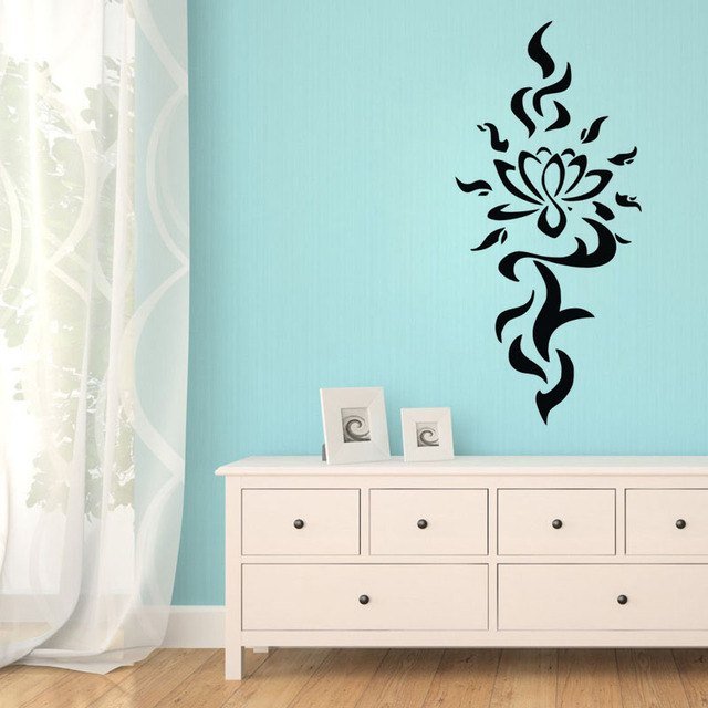 Aliexpresscom Buy EHome Beautiful Namaste Lotus Wall Stickers - Wall decals for bathroom