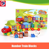 50pcs Set Large Size My First Playmobile Number Train Model Building Blocks Bricks Kids Educational Toy