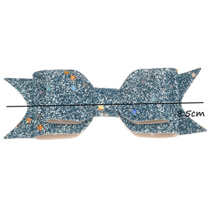 Image 3 - 50pcs Sequin Powder Bow Fashion Accessory Bowknot Allitagor Clip Cute Barrette Glitter Chic Hair Accessory Boutique Hairbow
