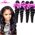 Rosa Hair Products 7A Malaysian Virgin Hair Loose Wave 4 Bundles Deals Malaysian Loose Curly Virgin Hair Human Hair Extensions
