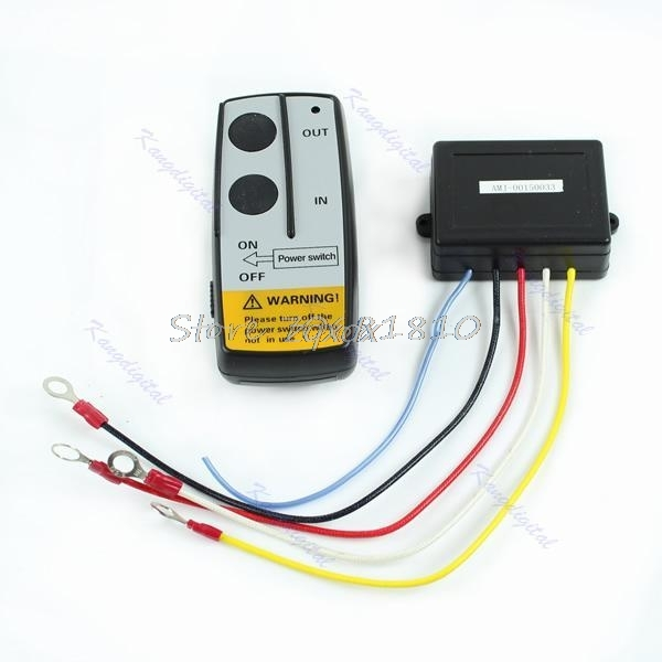 12V Electric Winch Wireless Remote Control Kit For Truck Jeep ATV Warn Ramsey Z09 Drop ship