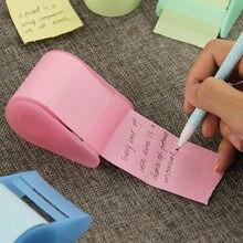 Adesivo de papel fluorescente kawaii, bloco de notas adesivas, papelaria, mini escritório, xpress, pode lágrima