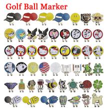 Nowa piłka golfowa Mark + przypinka do czapki golfowej magnetyczny znacznik stopu akcesoria do golfa Eagle Tiger One putter Flog lampka do wina koniczyna na szczęście tanie tanio M1BC Other Putting green