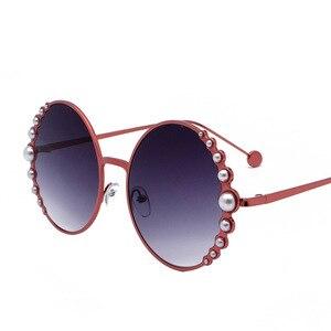 Image 4 - แว่นตากันแดดรอบไข่มุกสีดำผู้หญิงทอง Beach Shades สีแดงส่วนลดแบรนด์กรณีฟรีเรือ
