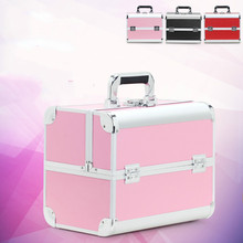 Women Fashion Professional Makeup Organizer Large Capacity Portable Cosmetic Bag Bolso Mujer Suitcase Toolbox Brush Storage Case