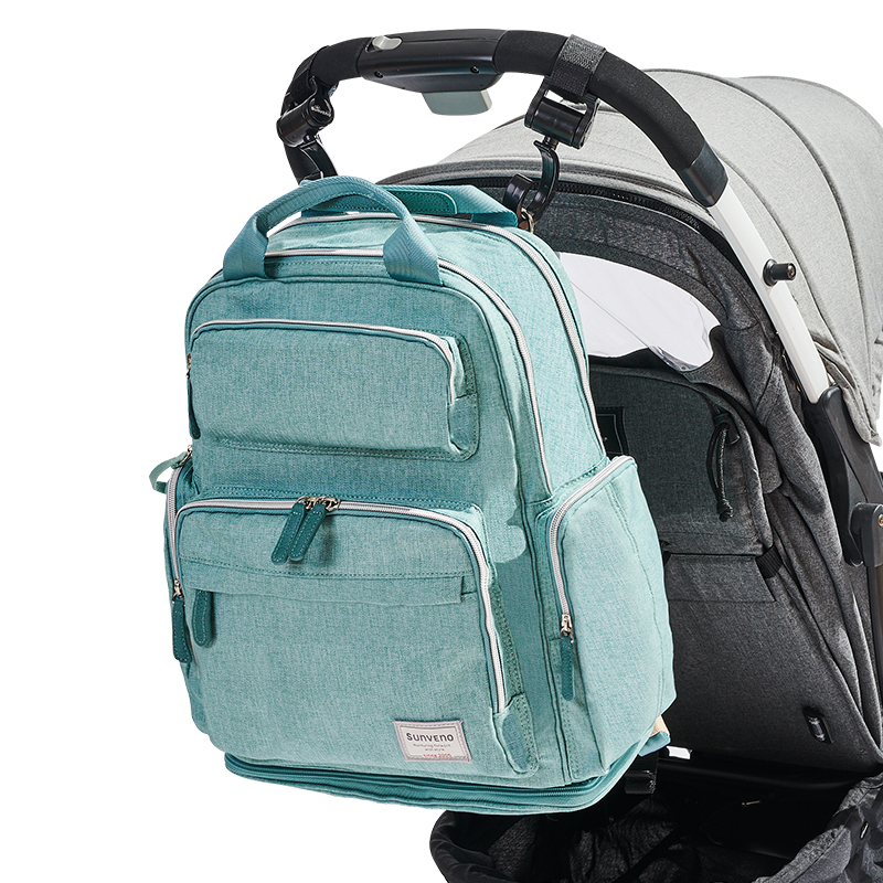 Image 2 - SUNVENO Diaper Bag Backpack Maternity Baby Bag Mom Backpack Stylish Stroller Baby Diaper Bags For Mom-in Diaper Bags from Mother & Kids