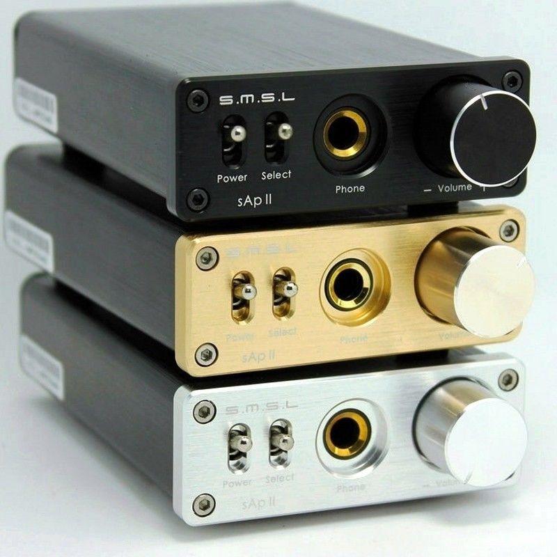 SMSL sApII Pro TPA6120A2 Grande Puissance Amplificateur Intégré Noir couleur + adaptateur