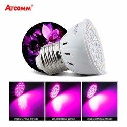 E27 SMD5730 Lâmpada LED Phyto Espectro Completo LEVOU Cresce A Luz Fitolampy Lâmpadas 21 28 35 LEDs Para Sementes de Plantas de Efeito Estufa hidropônico