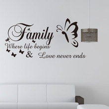 Family Removable Wall Stickers For Living Room Art Mural Home Decoration Self adhesive paper