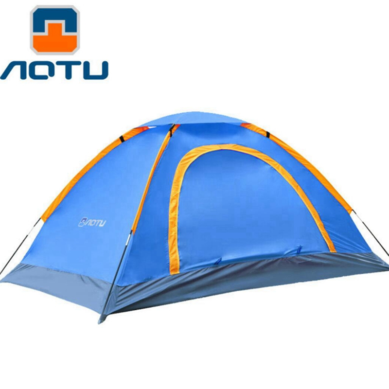 Outdoor Waterproof  Folding Ultralight Camping Tent 1-2 Person Double door   Fishing Tourist Tent Beach Tent Hiking Family Tent outdoor double layer 10 14 persons camping holiday arbor tent sun canopy canopy tent