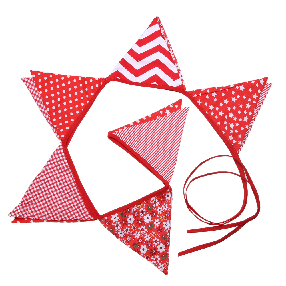 Crocheted Red White & Blue Star Banner