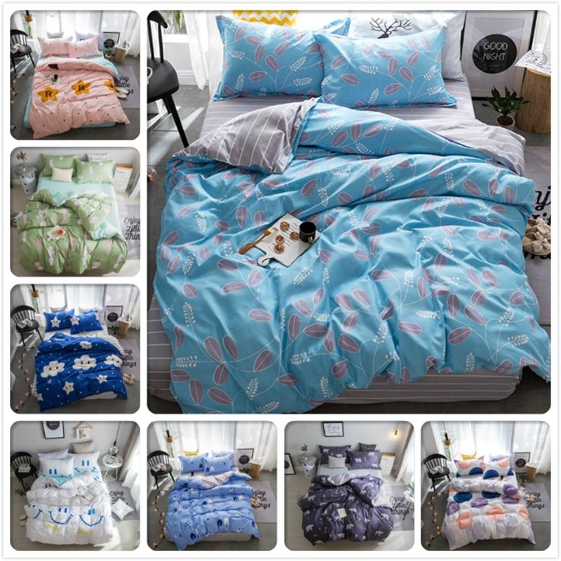 Soft Cotton Duvet Cover 3/4 pcs Bedding Set Kids Bed Linen 1.35m 1.5m 1.8m 2m Bedlinens Single Twin Full Queen King Size 180x200