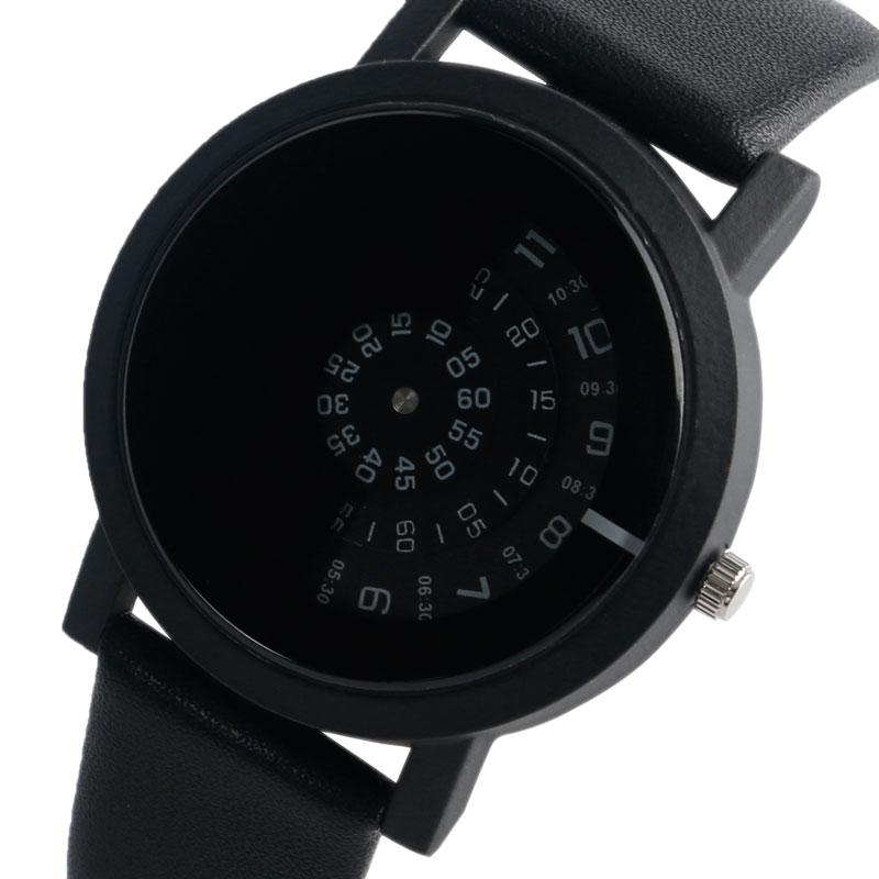 Mode mænd armbåndsur rustfrit stål quartz ur sort trendy afslappet - Mænds ure - Foto 1