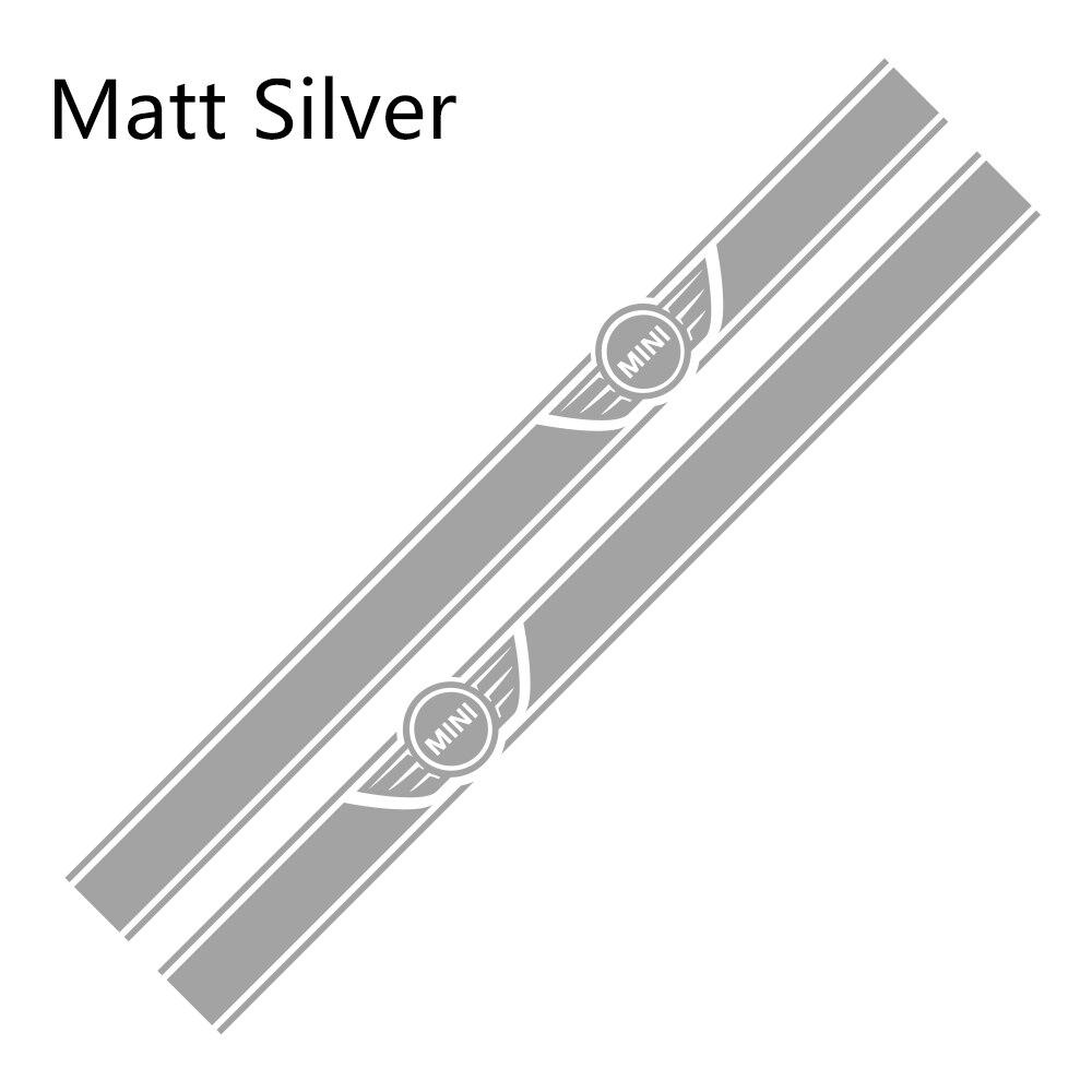 2 шт. автомобиль длинные штаны с полосками, Стикеры для Mini Cooper R56 R57 R58 R50 R52 R53 R59 R61 Countryman R60 F60 F55 F56 F54 аксессуары «сделай сам» - Color Name: Matt Sliver