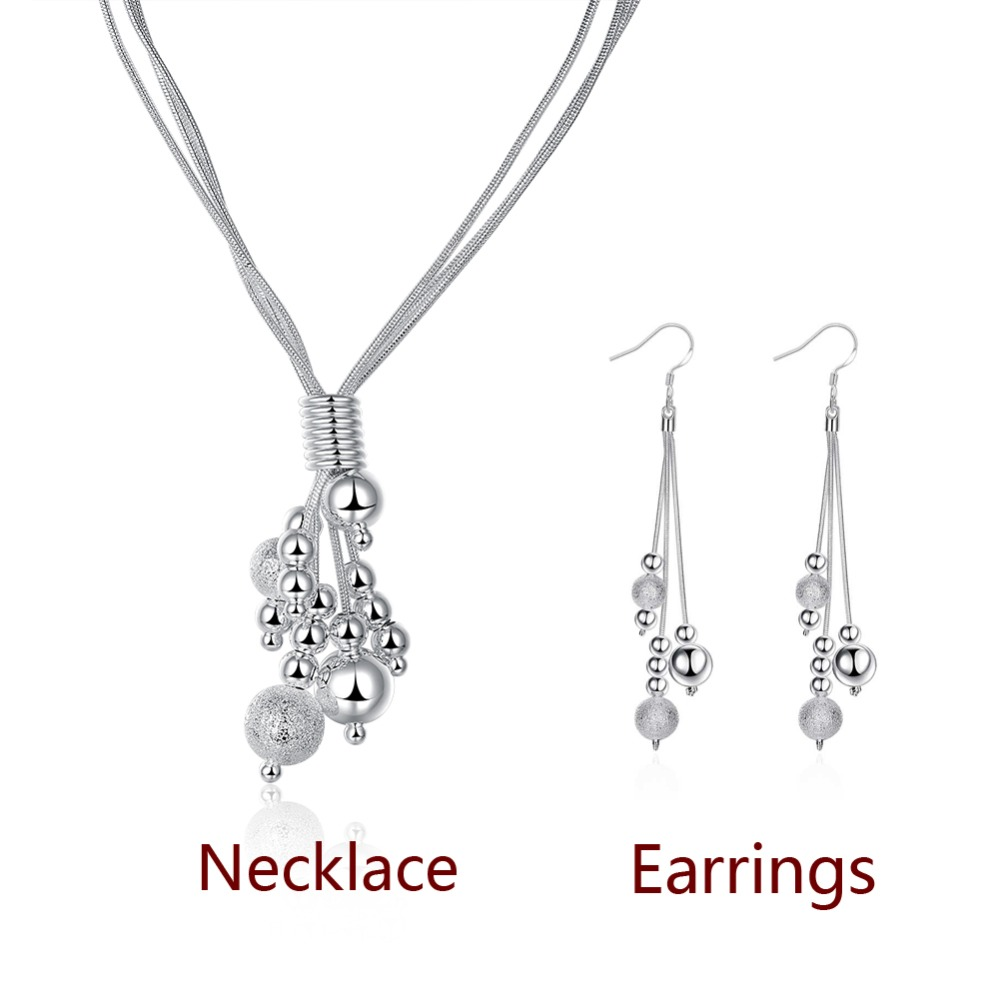 New Fashion Silver snake chain Jewelry Sets Women's Three