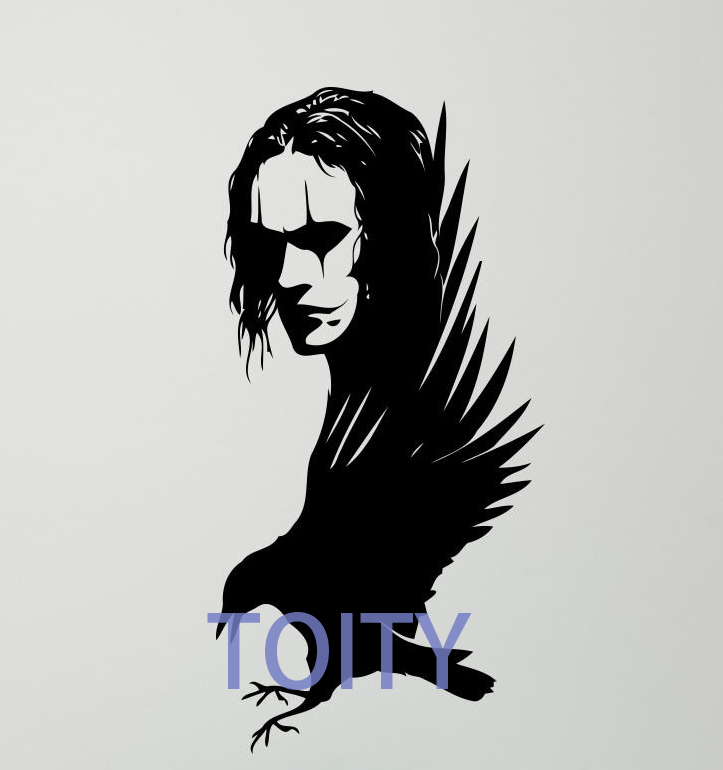 The Crow Wall Sticker Brandon Lee Movie Actor Vinyl Decal